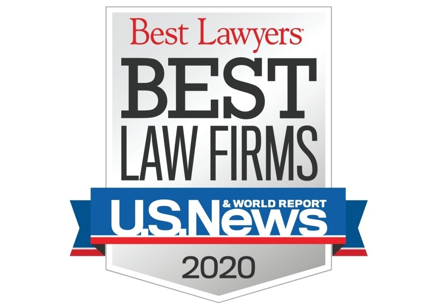 Best Lawyers Best Law Firms, US News & World Report 2020