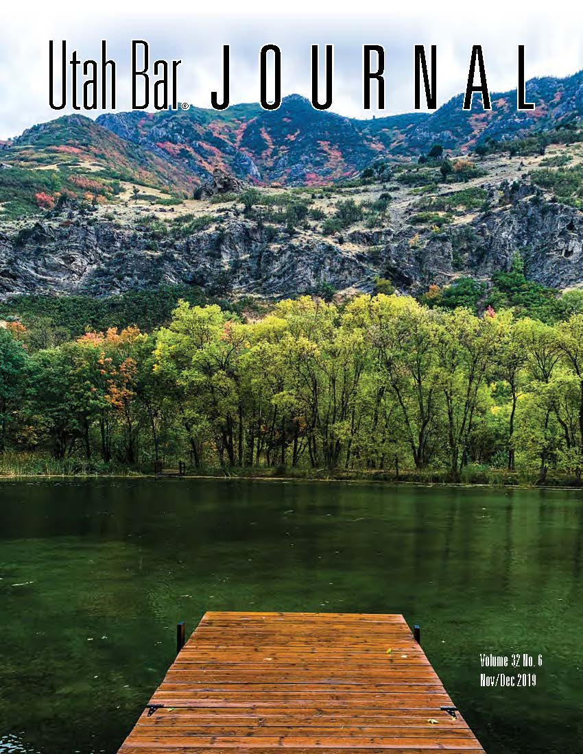 Utah Bar Journal Cover 2019